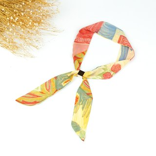 Little Ukrainian handmade small scarves without aluminum wire with vintage super soft [paste flower] [A-142]
