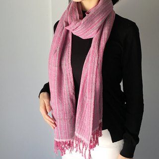 Unisex Scarf - Pink and Silver - All season available -
