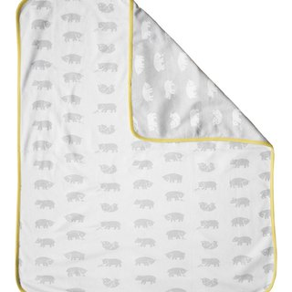 小熊熊有機棉毯(黃邊)– BJÖRN ECO CHILD BLANKET(yellow edge)