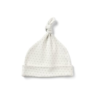 French Grey Kisses Knot Hat  100% Organic Cotton for baby