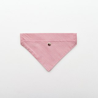 Handmade Striped Pet Collar Accessory - Scarf / Bib - Fresh Red【ZAZAZOO】