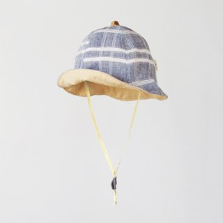 Dyed Plaid Blue Light Children Visor