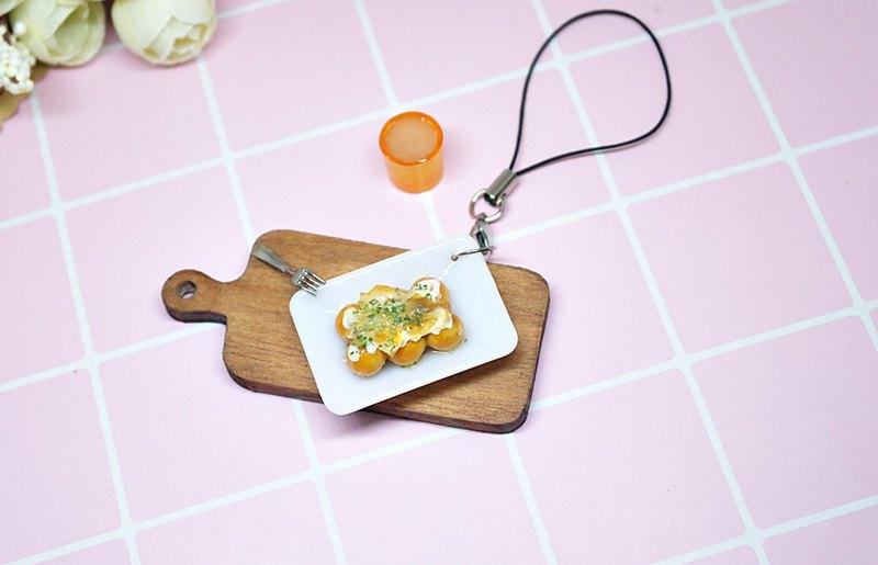 =>黏土系列-章魚小丸子-吊飾  #可以更改成鑰匙圈 =>限量*1