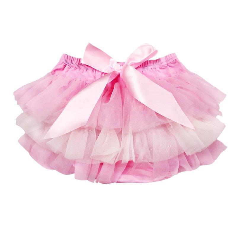 Cutie Bella 雪紡蝴蝶結蓬蓬褲裙 澎澎裙屁屁褲 Pink Cream Pink