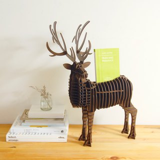 Deer Business Card Holder 3D Handmade DIY Home Decoration Walnut Large