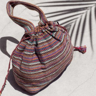 Valentine's Day Gifts Birthday Gifts Chinese Valentine's Day Gift Limited Edition A hand-woven bag / National style bag / Striped bag / Cosmetic bag / Mobile phone bag / Clutch / Handbag-Walking in Rainbow World