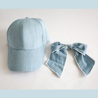 Cotton baseball cap (detachable bow)