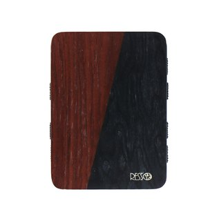 Resso Europe Handmade Wood Business Card Holder Spelling Wood Series - 黑木拼拼紫木款款