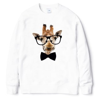 Giraffe-Bow Tie University T bristles white giraffe tie glasses beard animal arts youth design trendy text fashion