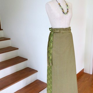 Wrap Skirt Green Indonesian Fabric
