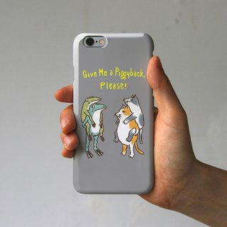 iPhonePlus case piggyback (gray)