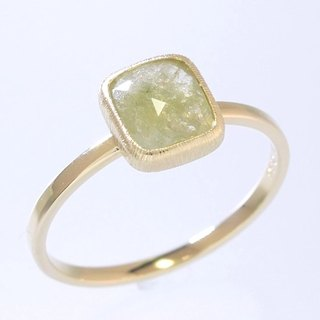"Japan Quality | 0.86ct Natural Diamond Stacking Ring ""Lemon"" 14K YG"
