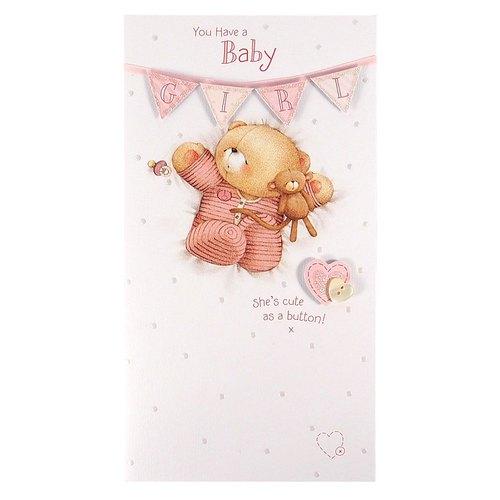 Hallmark Forever Friends/ /Medium /Tarjeta de Baby Girl Hello Beautiful/