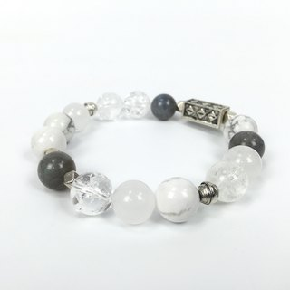 [White] natural stone bracelet retro old bracelet couple models white turquoise crystal gray moonstone