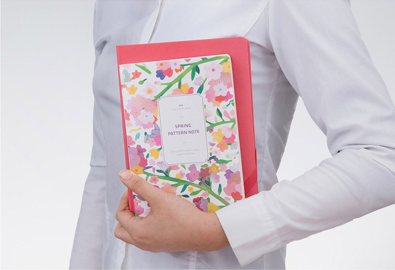 Spring Pattern Note Spring flower notebook - ink flowers