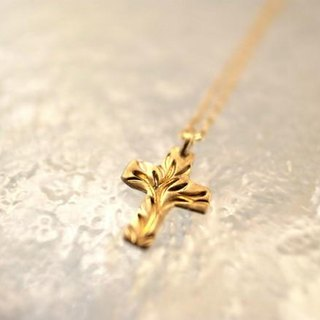 K18 karat gold handmade necklace / cross for Ladies