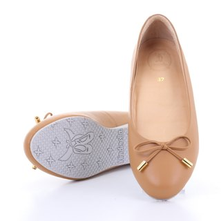 VICTORIA; Everyday Ballerina, 100% Genuine Leather, Basic ballet bow arch support