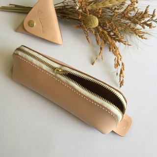 Original color pencil case / handmade / genuine leather / textured / articulated / design / pencil case / portable