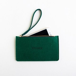 Leyang・Gauisus-Wool felt storage bag / Mobile phone bag - Retro A brother green (new)