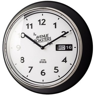 Veryan-day / date modeling wall clock (black)
