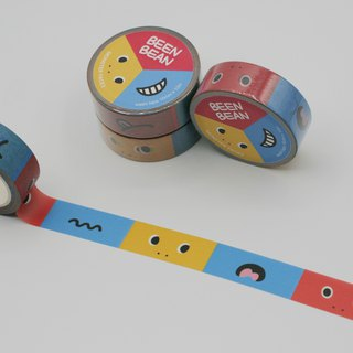 Monster faces washi masking tape (15mm x 10m paper tape)