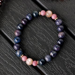 Rose Stone*Cat Eye Moonstone*Blue Line Stone Bracelet