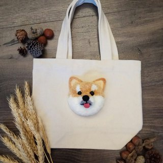 Shiba fur ball pet dog canvas bag