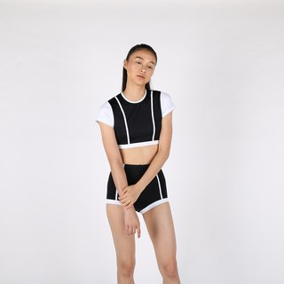 Parallel Line set - Black / swimwear / S