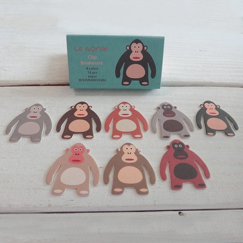 Paperclip - Diamond - monkeys - green paper bookmarks