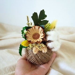 Piece of Praise - Early Autumn Earth Hemp Ball Dry Table Flower