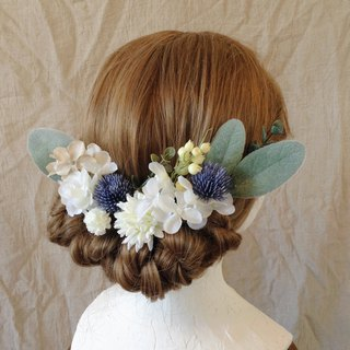 Blue Thistle Head Dress