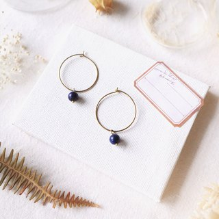 Natural stone small circle series - peacock lapis lazuli