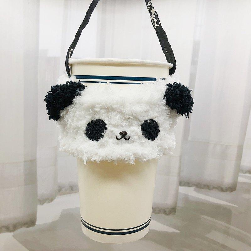 熊貓-環保杯套 飲料杯套 手搖杯杯套