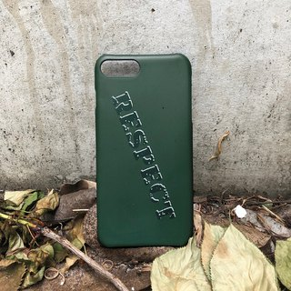 RESPECT - Military Wind Scrub Hard iPhone Case