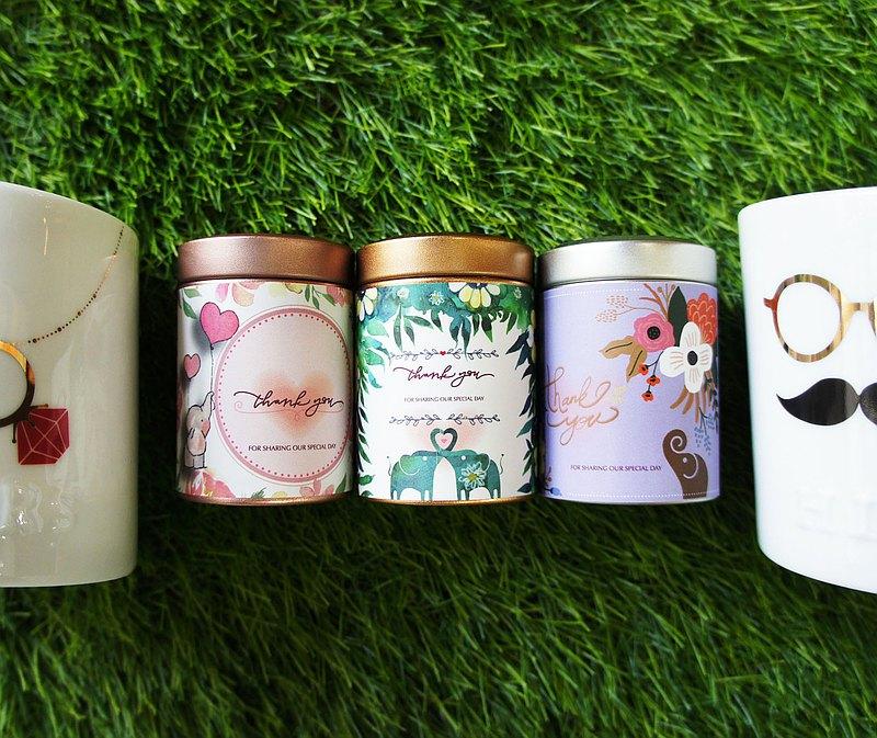 【團購免運】囍茶系列--幸福小圓罐50組(100入圓片茶包)/婚禮小物