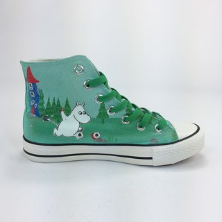 Moomin Moomin authorized - canvas shoes (green shoes dark green belt / womens shoes limited) -AE06