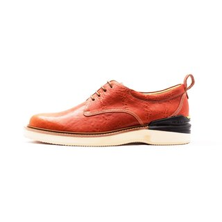 Manufacturing Chainloop SCOT Derby sport casual shoes cushion insole outsole Taiwan orange lambskin leather uppers