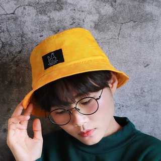 Gradient rendering yellow fisherman hat