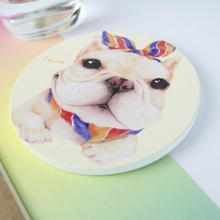 icure absorbent coaster - i magic - hand painted wind H8