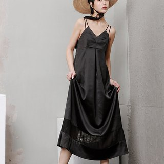 Black Camisole Slip Maxi Dress