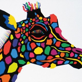 Painting illustrations Art giraffe giraffe Giraffe A4-K