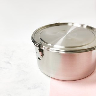 【Box】 304 stainless steel tableware series - matte round storage lunch box -6