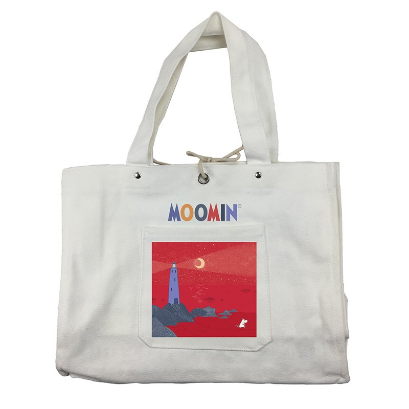Moomin 噜噜米 authorized - Japanese hand bag (white), AE02
