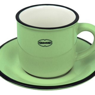 Cabanaz - ESPRESSO CUP / SAUCER Espresso cup with saucers / vintage green