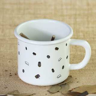 [NO] Gifts wooden thick enamel cup - Xiao Heixiong