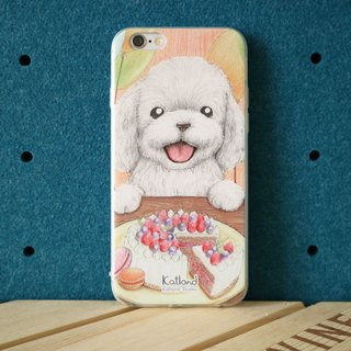 Home design - than the bear white lady lady dog ​​case protective case Phone Case D06_C