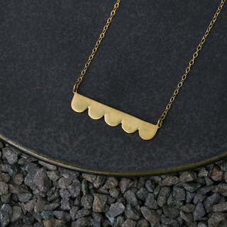 Misstache N.5 Miss Beard No.5 Brass Necklace Brass Necklace
