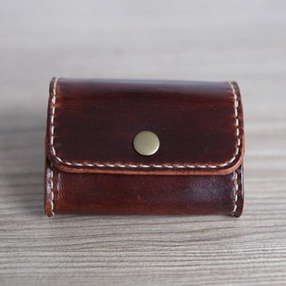 Arts and a small | hand-dyed brown vegetable tanned large-capacity square zero wallet Valentine's Day gift