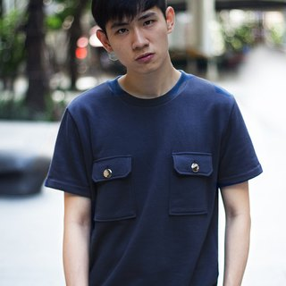 'Joey' Double Pockets Tee (Navy)