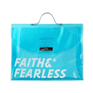 Faith & Fearless PVC FOLDER BAG BLUE Briefcase